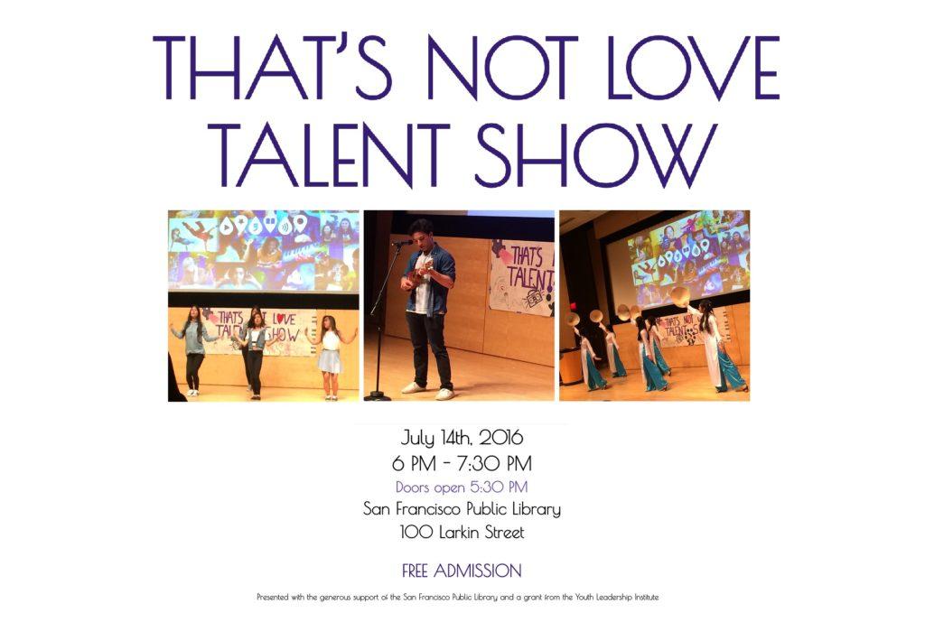 Talent Show Flier FRONT